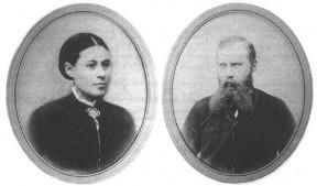 Ane Kirstine Overgaard og Gotfred Jensen. De oprettede Malling Kro i 1884.