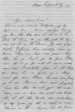 Brev fra præstefruen, Agnes Christensen, Beder, til Sidsel Jensen ved børnene Ane Marie og Jenses død.
