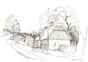 Hans Tækkemands første bolig i Fulden