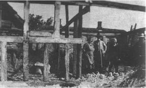Fra ombygningen af Augustenborg i 1950. Edel Rasmussen, Niels K. Rasmussen, Rasmus P. Rasmussen