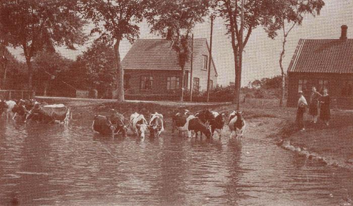 Gadekæret i Beder. Ca. 1925