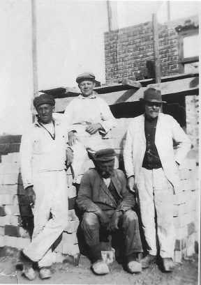 Murersjak N.A. Sørensen, J Schou, S.K. Sørensen og Martin Nielsen