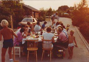 Vejfest ud for nr. 36. Ca. 1980