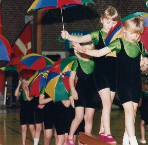 Egelund gymnastikopvisning 1980erne.