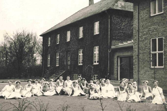 Malling Husholdningsskole cirka 1954. Fotograf ukendt