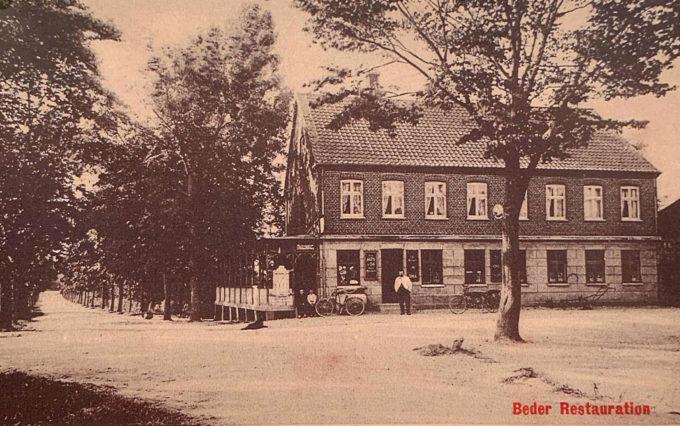 Beder Kro. Beder Landevej 66. Ca 1910