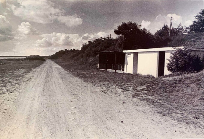 Toiletter ved Ajstrup Strand 28. juli 1974