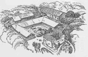 Veilgard 1941. Tegning fra Familie Journalen.